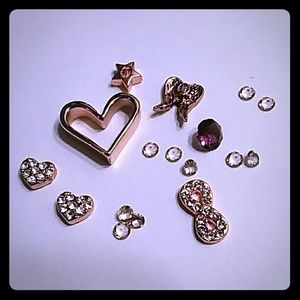 Origami Owl Rose Gold Charms